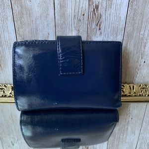 Hobo International Blue Leather Wallet